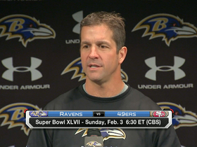 Video - Baltimore Ravens head coach John Harbaugh has his game plan ready