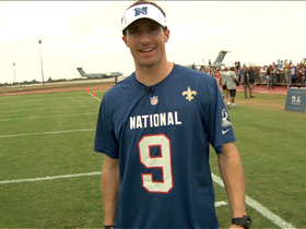 Brees has some Pro Bowl fun