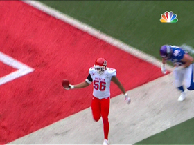 Video - Kansas City Chiefs linebacker Derrick Johnson picks off New York Giants QB Eli Manning for TD return