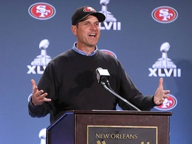 Video - San Francisco 49ers head coach Jim Harbaugh dreams he runs like QB Colin Kaepernick