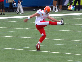 Watch: Dawson gets fancy with onside kick