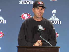 Video - San Francisco 49ers head coach Jim Harbaugh jokes about son's NFL potential