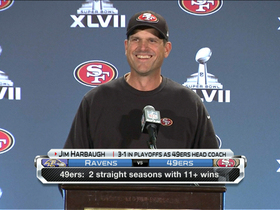 Video - San Francisco 49ers head coach Jim Harbaugh jokes about pen necklace