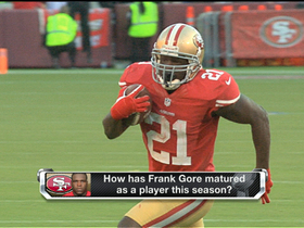 Video - How has San Francisco 49ers running back Frank Gore matured in 2012?
