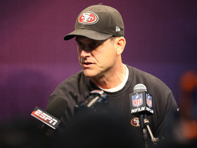 Video - San Francisco 49ers head coach Jim Harbaugh on fighting with his brother: 'I'm sure we did'