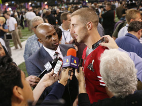 Video - San Francisco 49ers quarterback Alex Smith on not getting a podium: 'There's only so many'
