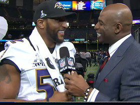 Video - Baltimore Ravens linebacker Ray Lewis: 'We're only here to feel that confetti drop'