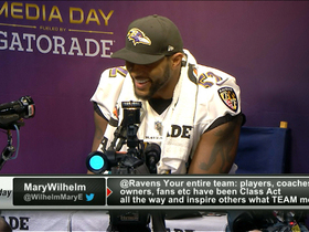 Video - Baltimore Ravens linebacker Ray Lewis nixes question on banned substance