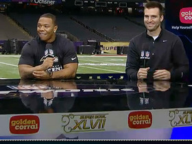 Video - Joe Flacco and Ray Rice talk Super Bowl