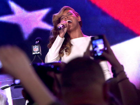 Watch: No lip-sync here -- Beyonce sings the National Anthem
