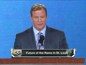 Watch: Goodell discusses Rams' future in St. Louis
