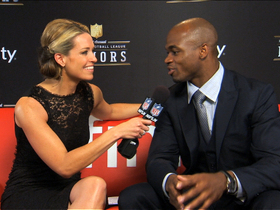 Watch: 'NFL Honors' red carpet: Adrian Peterson