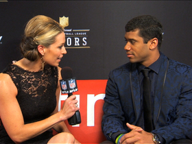 Watch: 'NFL Honors' red carpet: Russell Wilson