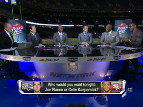 Video - Baltimore Ravens quarterback Joe Flacco vs. San Francisco 49ers quarterback Colin Kaepernick