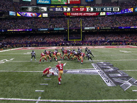 Video - San Francisco 49ers kicker David Akers nails 36-yard FG