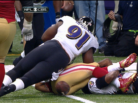 Video - Baltimore Ravens recover fumble by San Francisco 49ers running back LaMichael James