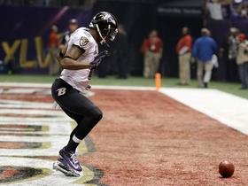 Video - Super Bowl XLVII Can't-Miss Play: Baltimore Ravens wide receiver Jacoby Jones dances for the score