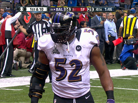 Video - Baltimore Ravens linebacker Ray Lewis and his defense make defensive stand to win SB XLVII