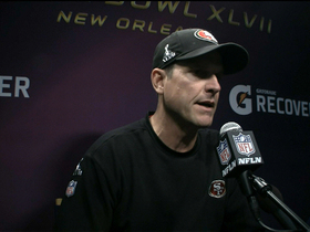 Watch: Jim Harbaugh frustrated after loss