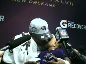 Video - Baltimore Ravens running back Ray Rice has cute moment with daughter