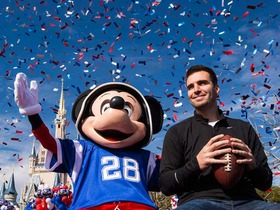 Watch: Joe Flacco goes to Disney World