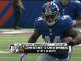 Video - New York Giants release running back Ahmad Bradshaw
