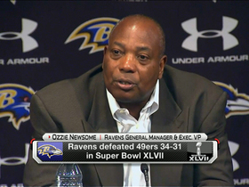 Video - Baltimore Ravens general manager Ozzie Newsome on quarterback Joe Flacco's future