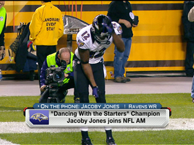 Video - Baltimore Ravens receiver Jacoby Jones celebrates 'Dancing with the Starters' victory