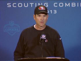 Video - San Francisco 49ers head coach Jim Harbaugh: 'We've got the best QB situation in the NFL'