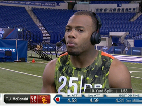 Watch: T.J. McDonald talks combine experience