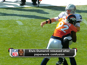 Video - Elvis Dumervil released after paperwork confusion