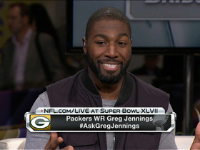 Greg Jennings talked about playing for Vikings at Super Bowl XLVII