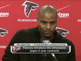 Video - Atlanta Falcons defensive end Osi Umenyiora: 'It's a dream situation'