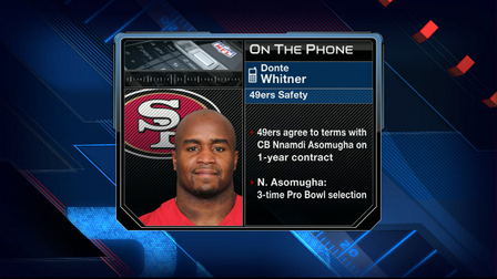 49ers safety Donte Whitner happy to have Nnamdi Asomugha
