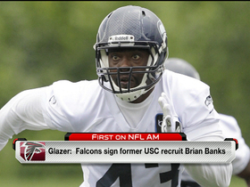 Watch: Brian Banks signs with Atlanta Falcons