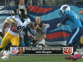 Video - James Harrison visits Cincinnati Bengals