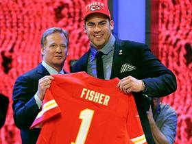 Watch: Fisher reacts to being drafted No. 1