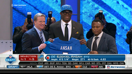 Lions draft Ezekiel Ansah No. 5 in the 2013 NFL Draft - NFL Videos