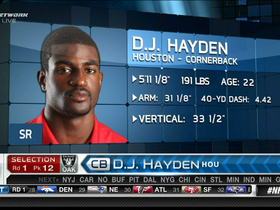 Watch: Raiders draft D.J. Hayden No. 12
