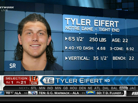 Video - Cincinnati Bengals draft Tyler Eifert No. 21 in the 2013 NFL Draft