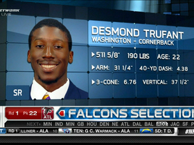 Watch: Falcons draft Desmond Trufant No. 22