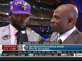 Video - Shariff Floyd reacts to being drafted by Vikings
