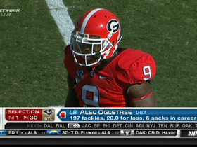 Watch: Rams draft Alec Ogletree No. 30