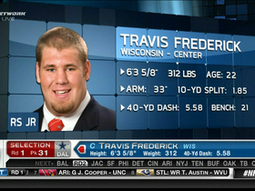 Video - Dallas Cowboys draft Travis Frederick No. 31