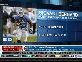 Watch: Bengals draft Giovani Bernard No. 37