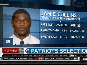 Video - New England Patriots draft Jamie Collins No. 52 overall in the 2013 NFL Draft