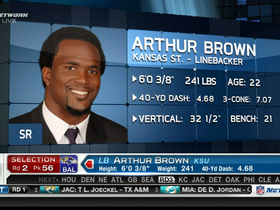 Video - Ravens draft LB Arthur Brown No. 56 in 2013 NFL Draft