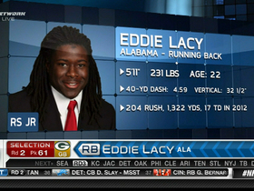 Video - Eddie Lacy drafted No. 61 overall by Green Bay Packers