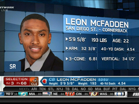 Video - Cleveland Browns draft Leon McFadden No. 68 in 2013 NFL Draft