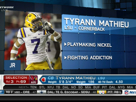 Video - Arizona Cardinals draft Tyrann 'Honey Bader' Mathieu No. 69 overall in the 2013 NFL Draft